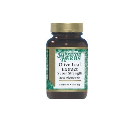 SWANSON Olive Leaf Extract 750mg 60kaps