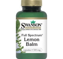 SWANSON Full Spectrum Lemon Balm 500mg 60kaps